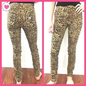 Guess 1981 Drew Leopard High Rise Skinny Jeans 25